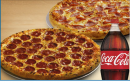 2 Pizza m. 1.5 l sodavand